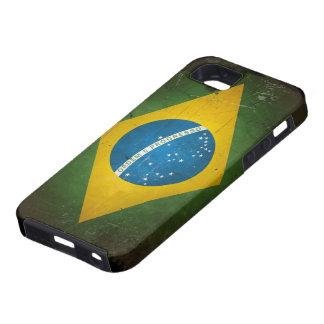 Bandera del Brasil del Grunge iPhone 5 Case-Mate Cárcasas