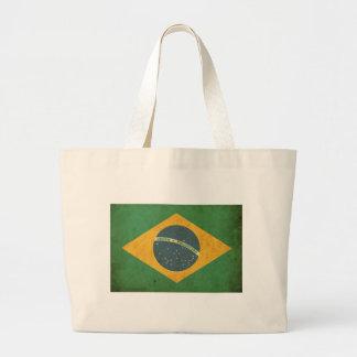 Bandera del Brasil del vintage Bolsa De Mano