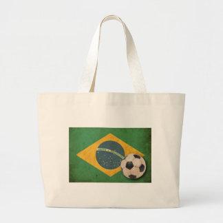 Bandera del Brasil del vintage Bolsas