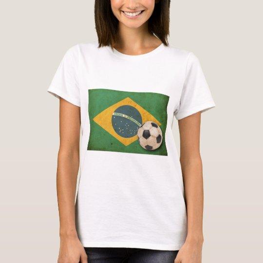 Bandera del Brasil del vintage Playera