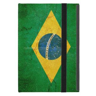 Bandera del Brasil en Grunge iPad Mini Cárcasas