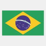 Bandera del Brasil Etiqueta