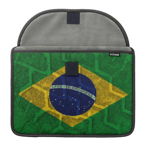 Bandera del Brasil Fundas Macbook Pro