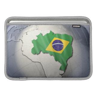Bandera del Brasil Fundas Para Macbook Air