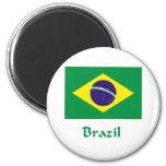 Bandera del Brasil Imán Para Frigorífico