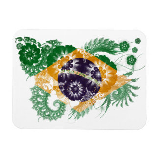Bandera del Brasil Imanes Rectangulares