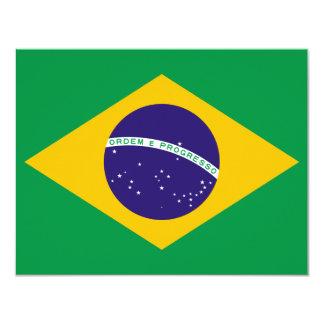"""Bandera del Brasil Invitación 4.25"""" X 5.5"""""""