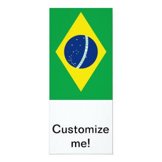 """Bandera del Brasil Invitación 4"""" X 9.25"""""""
