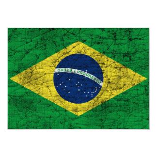 """bandera del Brasil Invitación 5"""" X 7"""""""