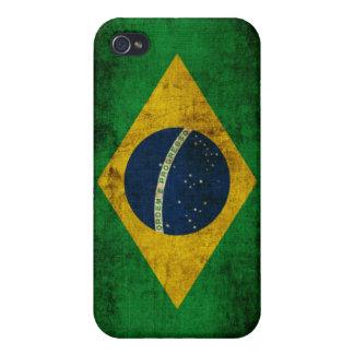 Bandera del Brasil iPhone 4 Carcasa