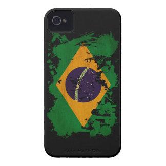 Bandera del Brasil iPhone 4 Carcasas