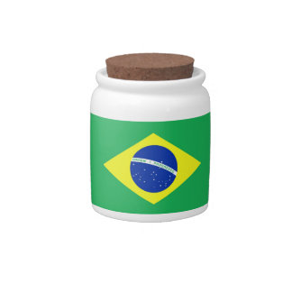 Bandera del Brasil Jarras Para Caramelos