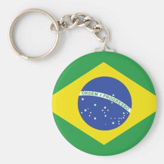 Bandera del Brasil Llavero Personalizado