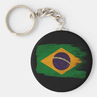 Bandera del Brasil Llavero Redondo Tipo Pin