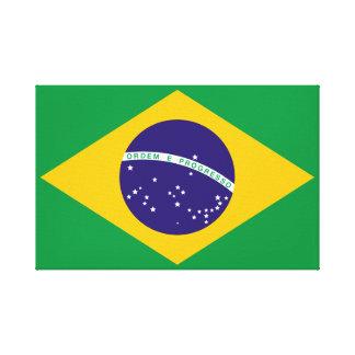 Bandera del Brasil Lona Envuelta Para Galerías