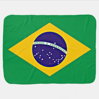 Bandera del Brasil Mantitas Para Bebé
