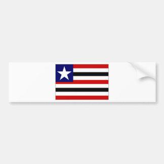 Bandera del Brasil Maranhatildeo Etiqueta De Parachoque