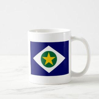 Bandera del Brasil Mato Grosso Taza Clásica