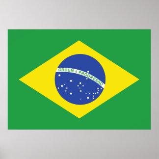 Bandera del Brasil Impresiones