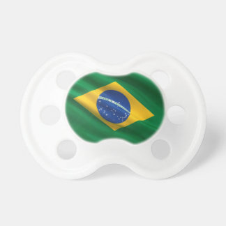 Bandera del Brasil Chupete De Bebe