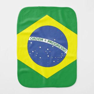 Bandera del Brasil Paños De Bebé