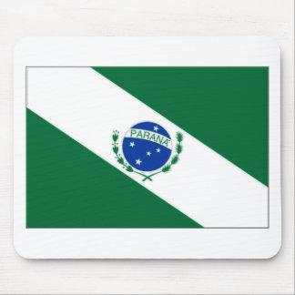 Bandera del Brasil Paranaacute Alfombrillas De Ratón