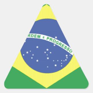 Bandera del Brasil Pegatina Triangular