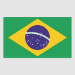 Bandera del Brasil Pegatina Rectangular