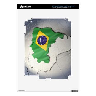 Bandera del Brasil Pegatina Skin Para iPad 3