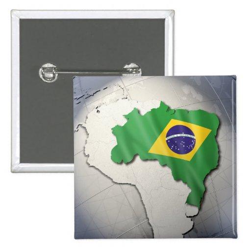 Bandera del Brasil Pins