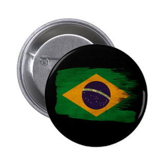 Bandera del Brasil Pin Redondo 5 Cm