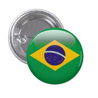 Bandera del Brasil Pin Redondo De 1 Pulgada