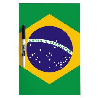 Bandera del Brasil Pizarra Blanca