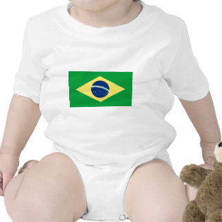 bandera del Brasil Trajes De Bebé