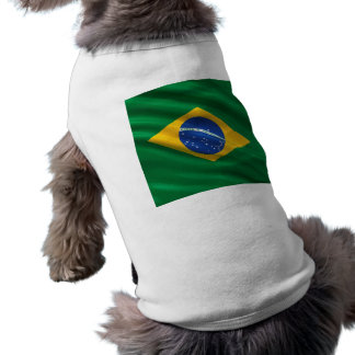 Bandera del Brasil Playera Sin Mangas Para Perro