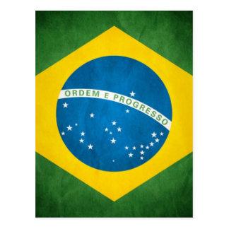 Bandera del Brasil Postales