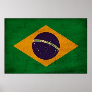 Bandera del Brasil Póster