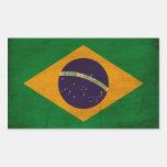 Bandera del Brasil Rectangular Pegatina