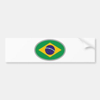 ¡Bandera del Brasil - refresque el diseño! Pegatina De Parachoque