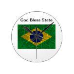 Bandera del Brasil Relojes