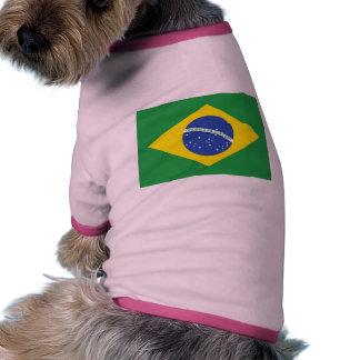 Bandera del Brasil Camiseta Con Mangas Para Perro
