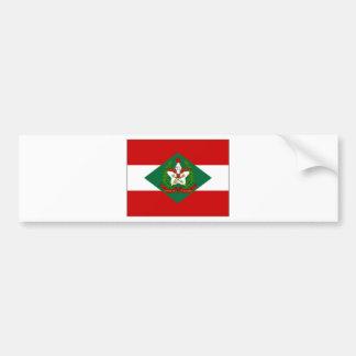 Bandera del Brasil Santa Catarina Pegatina De Parachoque