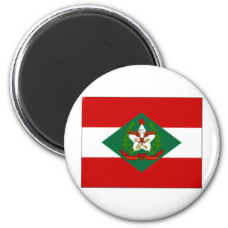 Bandera del Brasil Santa Catarina Imán Redondo 5 Cm