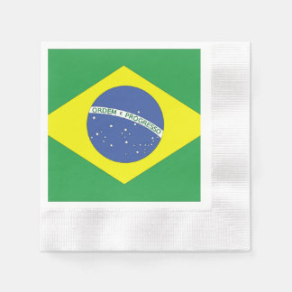 Bandera del Brasil Servilleta Desechable
