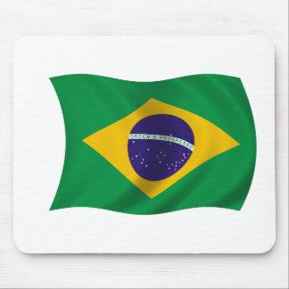 Bandera del Brasil Tapetes De Ratones
