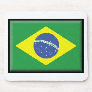 Bandera del Brasil Alfombrillas De Raton