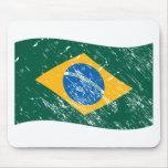 Bandera del Brasil Tapetes De Ratón
