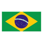 Bandera del Brasil Tarjeta Fotografica Personalizada