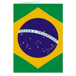 Bandera del Brasil Tarjeta De Felicitación