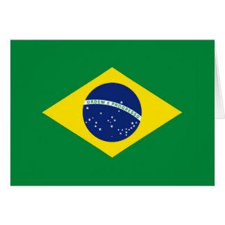 Bandera del Brasil Tarjeta Pequeña